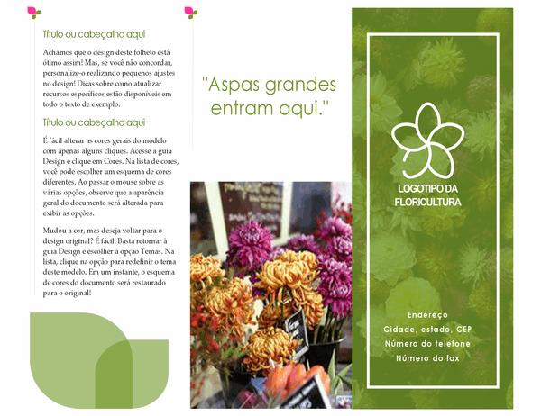 Folheto de florista