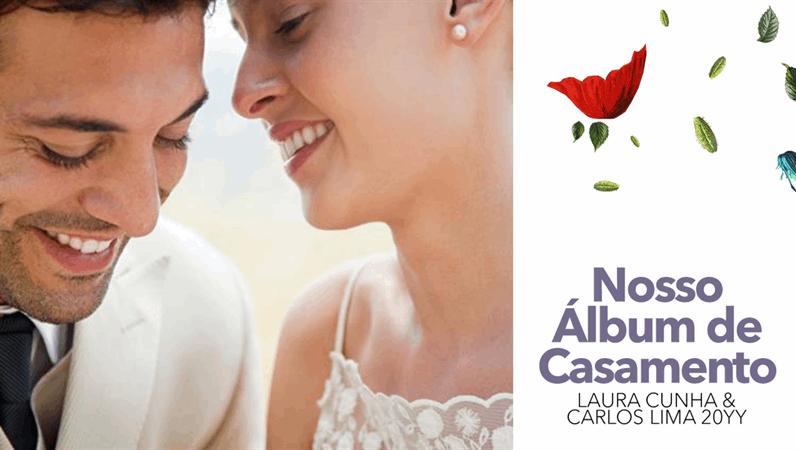 Álbum de casamento floral