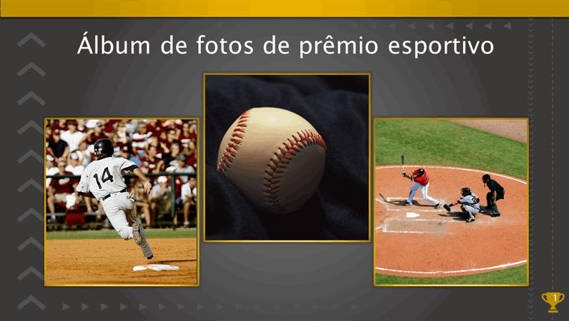 Álbum de fotos de prêmio esportivo