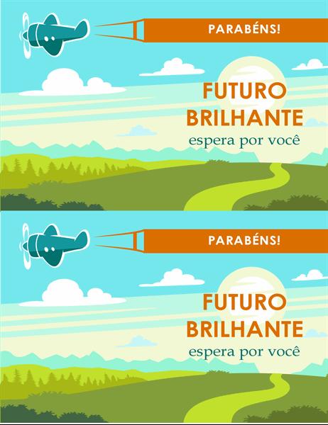 Cartão de formatura de futuro brilhante