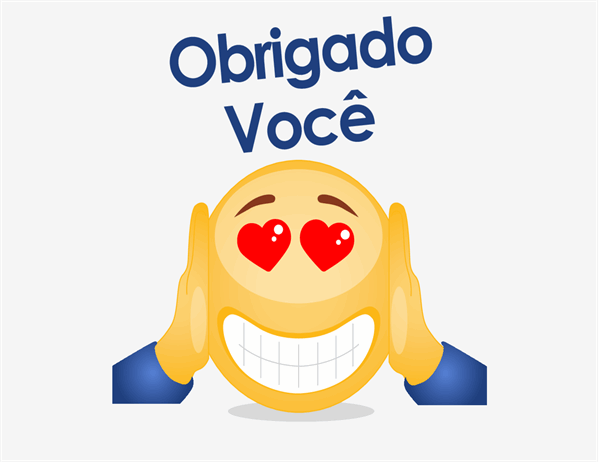 Cartão de agradecimento de Emoji