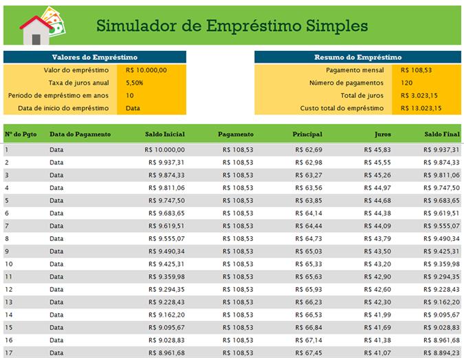 Simulador de empréstimo