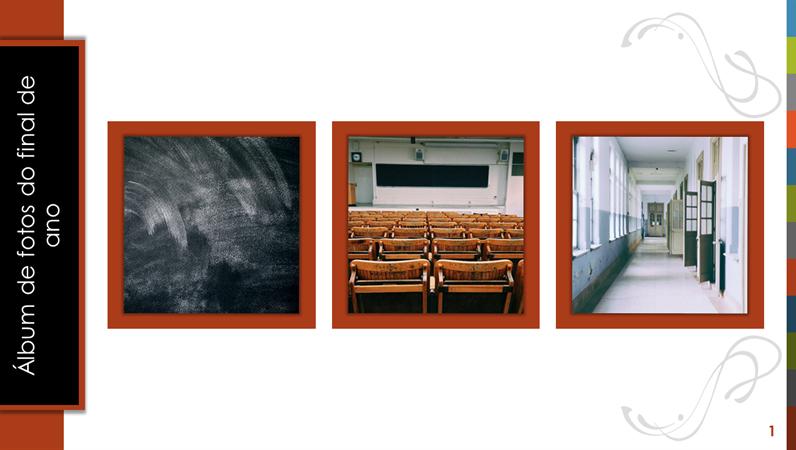 Álbum de fotos do final de ano