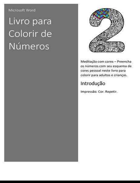 Livro para colorir com números