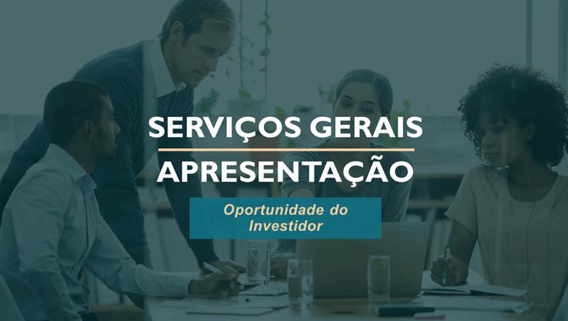 Apresentação de serviços profissionais