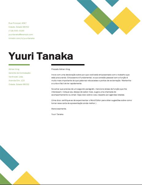 Carta de apresentação geométrica