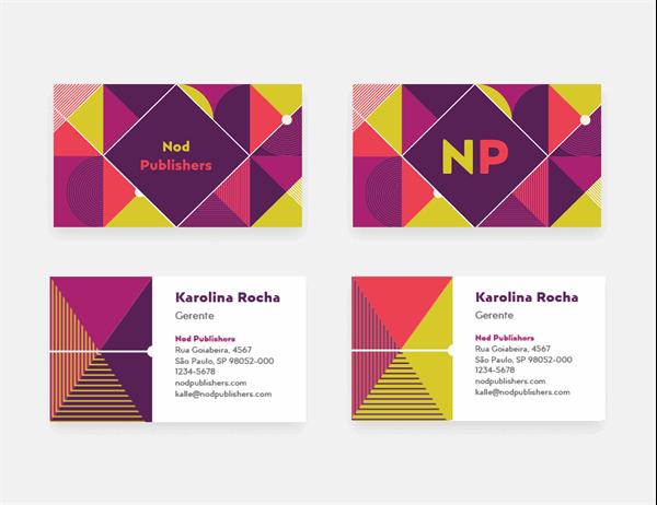 Cartões de visita geométricos