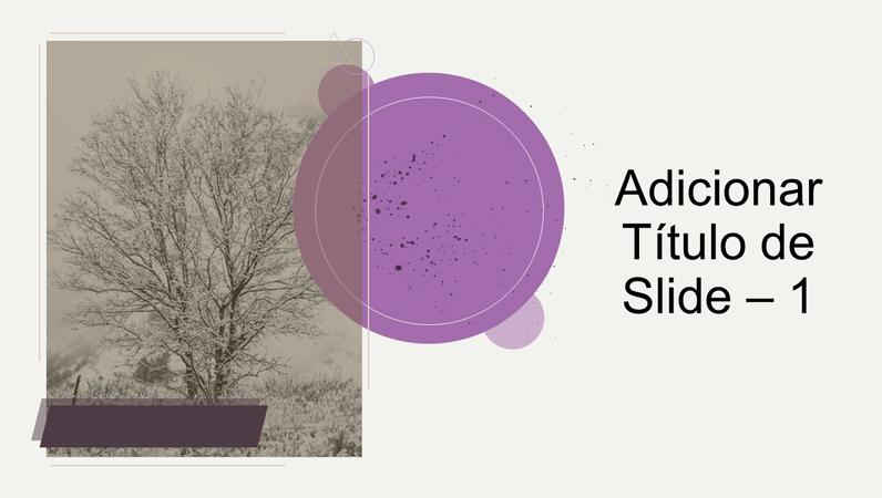 Animação de título com árvore