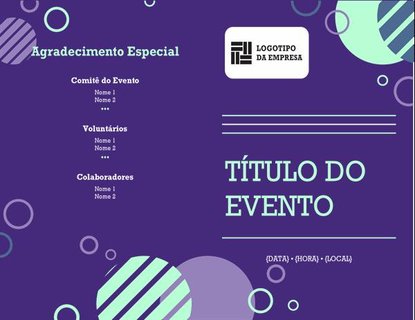 Programa de eventos da empresa