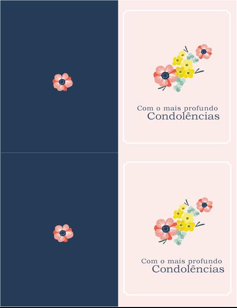 Cartão de condolências