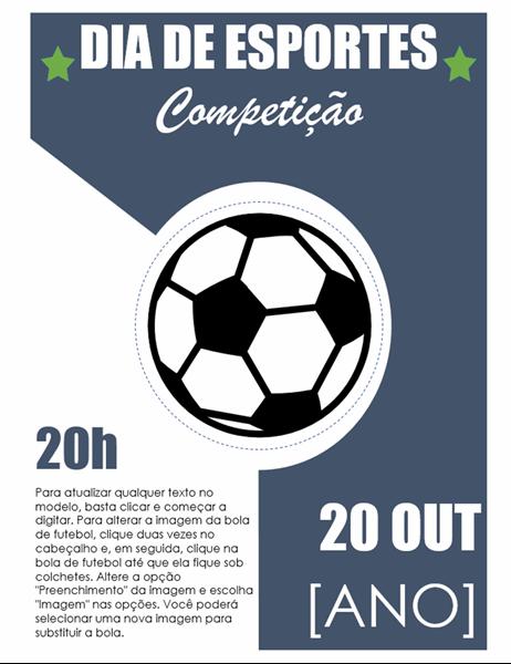 Panfleto de evento dia de esportes