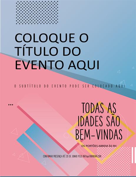 Panfleto de evento compacto