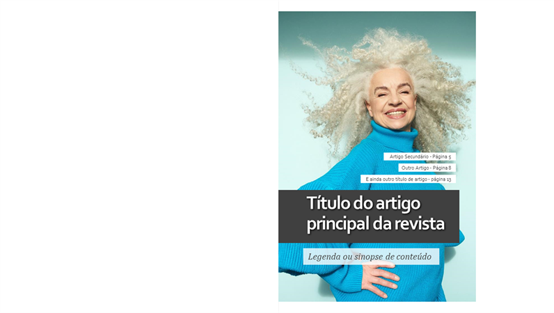 Layout de revista estilo de vida