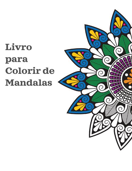 Livro para colorir com mandala