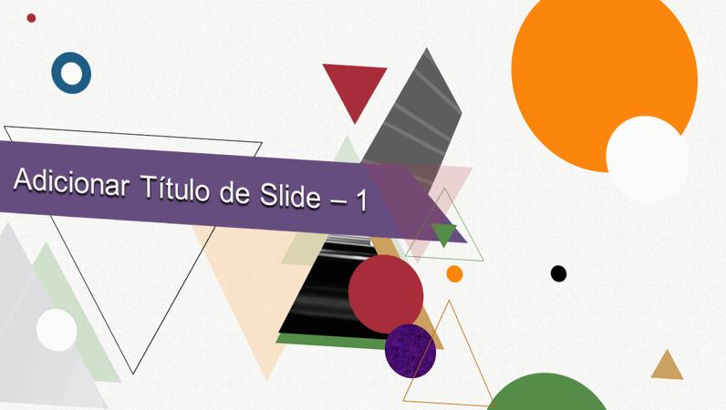 Animação de título com formas abstratas