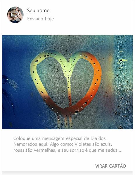 Cartão de Dia dos Namorados Coração na névoa