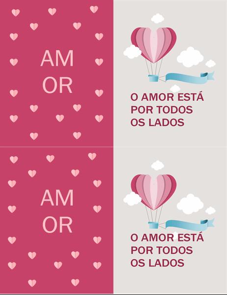 Cartão de dia dos namorados, o amor está ao nosso redor