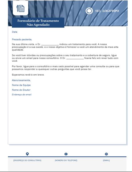 Carta de tratamento a saúde não programada