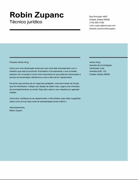 Carta de apresentação de impacto