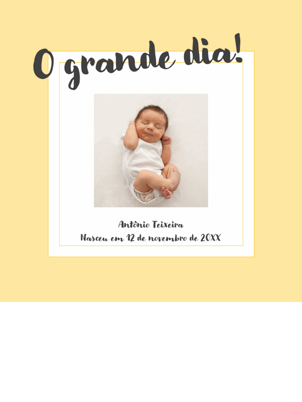 Álbum de fotos das etapas do bebê