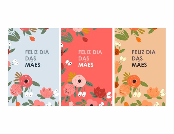 Cartão de Dia das Mães floral elegante
