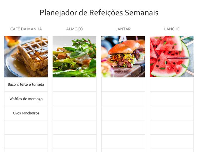 Planejador simples de refeições