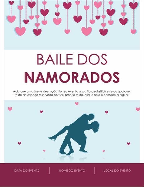 Panfleto de Dia dos Namorados