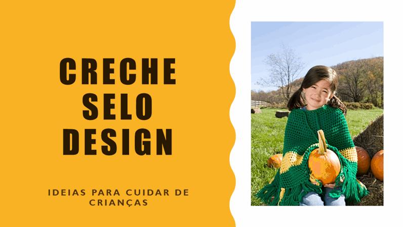 Design de selo de creche