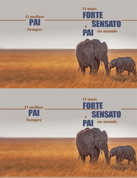 Cartão de dia dos pais com elefante sábio.