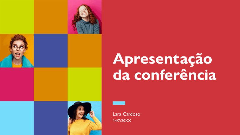 Apresentação de conferência colorida