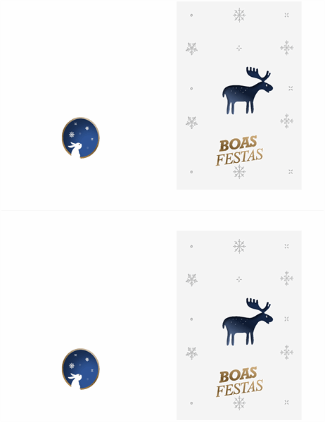 Cartão de Natal do alce