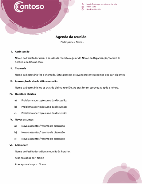 Agenda em conjunto rosa