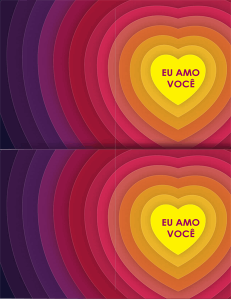 Cartão Corações dentro de corações
