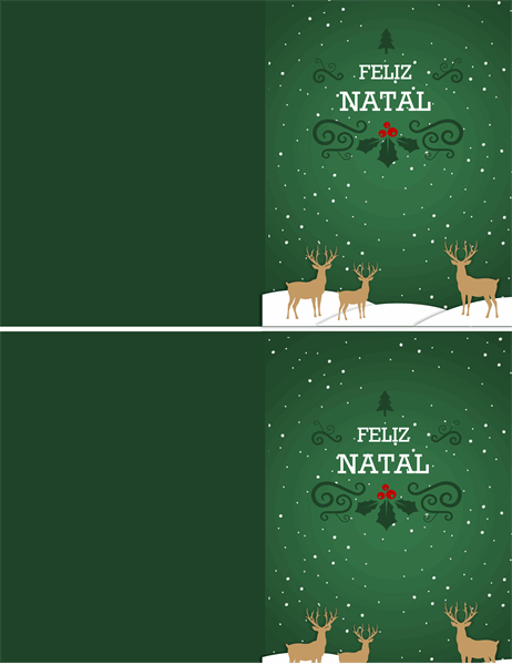 Cartão de Natal da rena