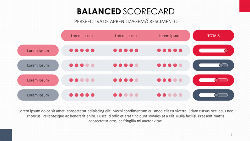Balanced Scorecard, de 24 slides
