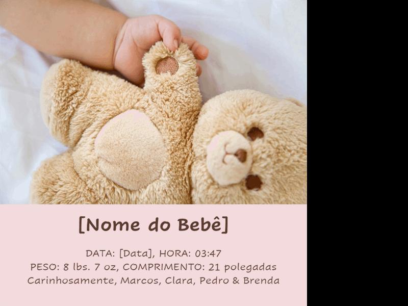 Álbum clássico de fotos de bebê