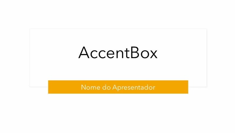Apresentação AccentBox