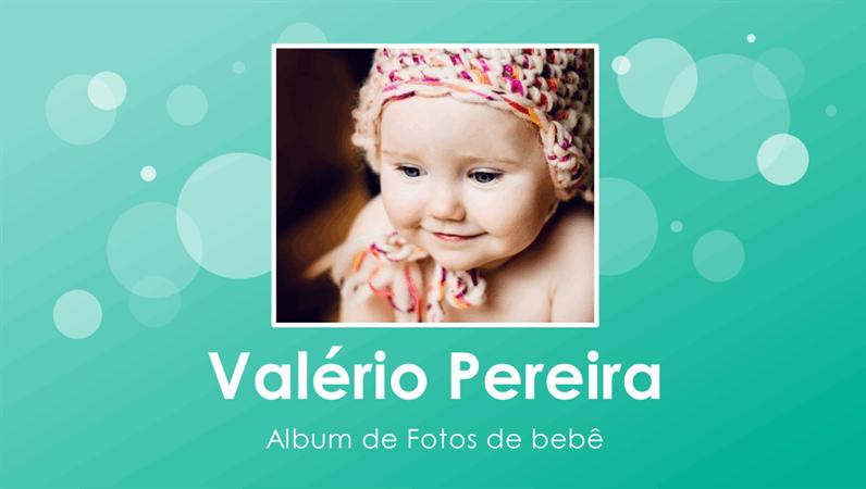 Álbum de fotos do primeiro ano do bebê