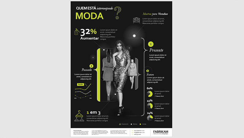Pôster de infográficos de moda