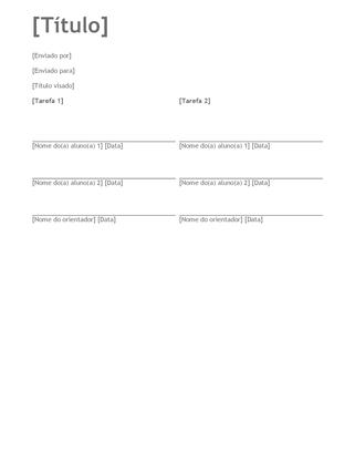 Dissertação de grupo