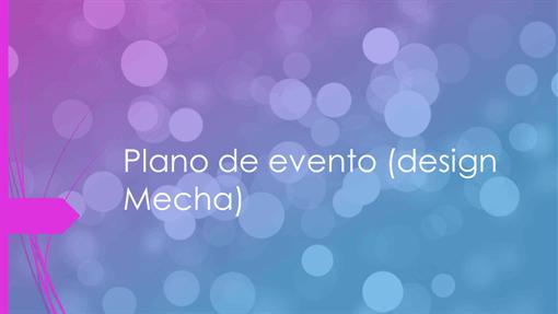 Design do evento
