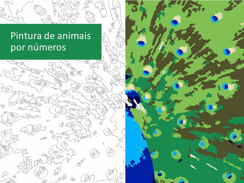 Pintar animais por números