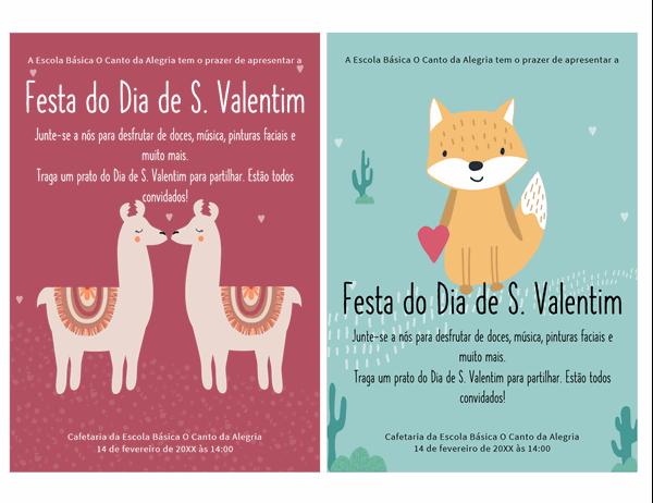 Panfleto do Dia de S. Valentim para crianças