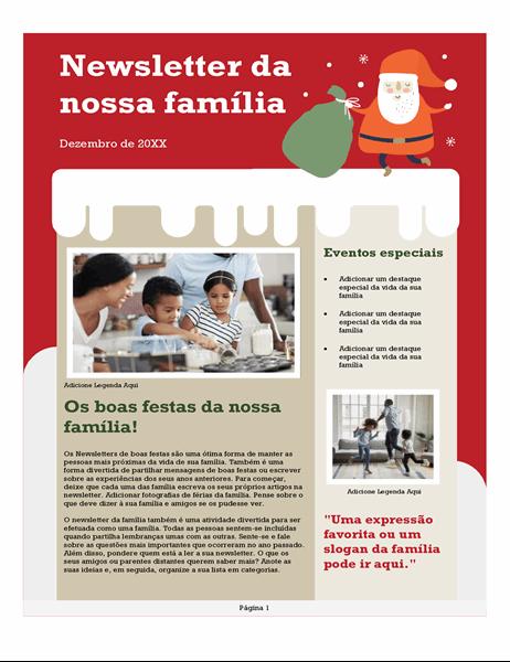 Newsletter familiar para o Natal