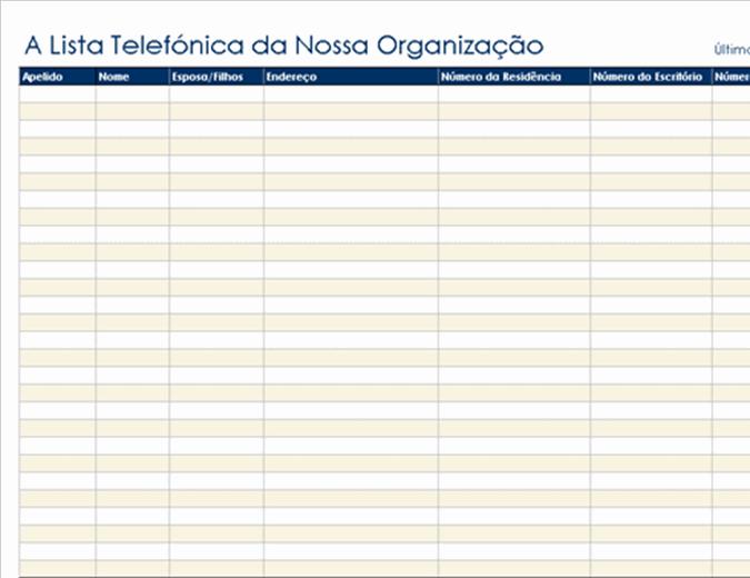 Lista telefónica organizacional