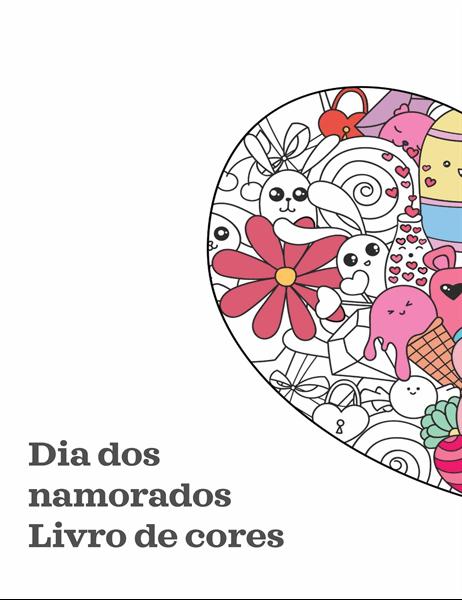 Livro para colorir do Dia de S. Valentim