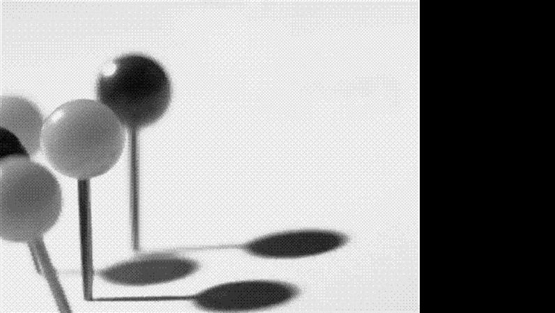 Modelo de apresentação Pinos a preto e branco