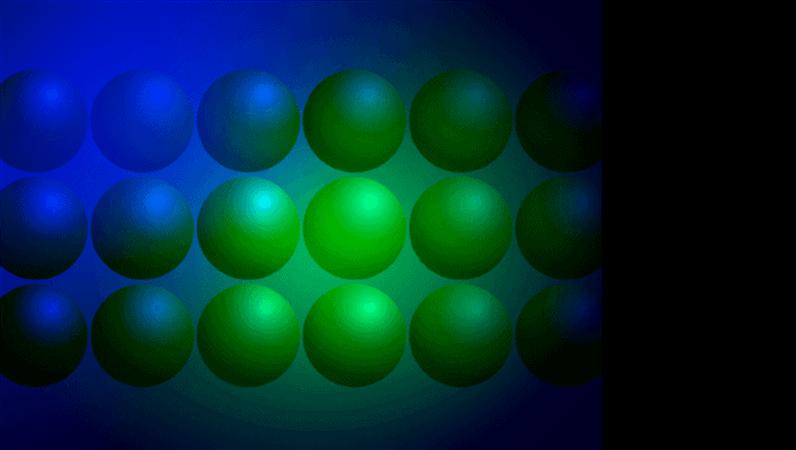 Modelo de apresentação Bolas azuis e verdes