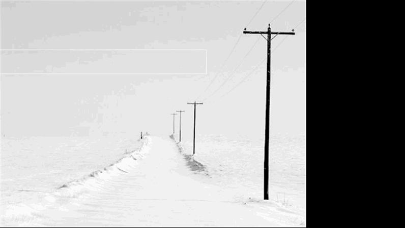 Modelo de apresentação Estrada com neve