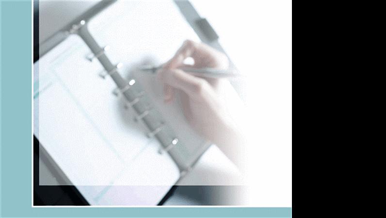 Modelo de design de mão escrevendo